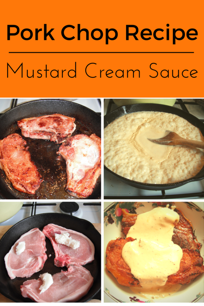Low Carb Keto Pork Chops in a Mustard Creamy Sauce