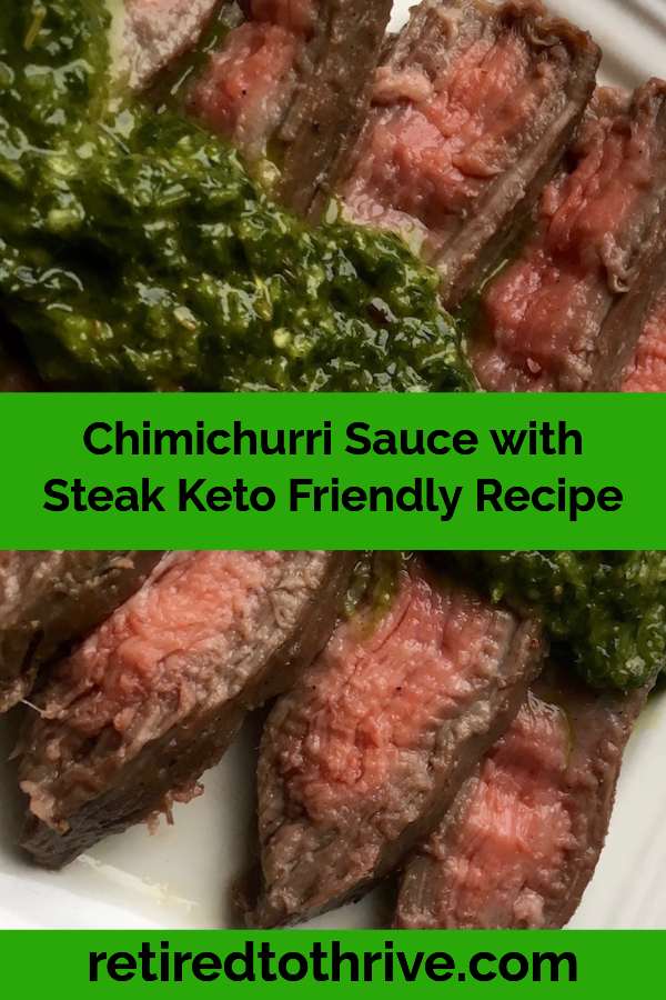 Chimichurri Sauce with Steak Keto Friendly Recip