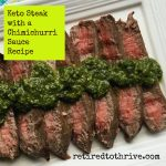 Keto Steak with a Chimichurri Sauce Recipe