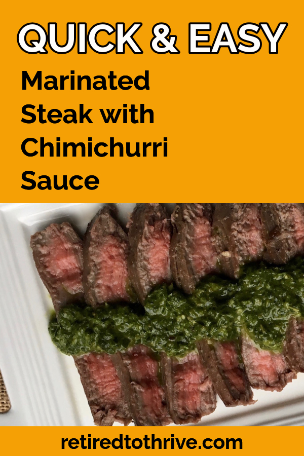 Marinated Flank Steak with Chimichurri Sauce (1)