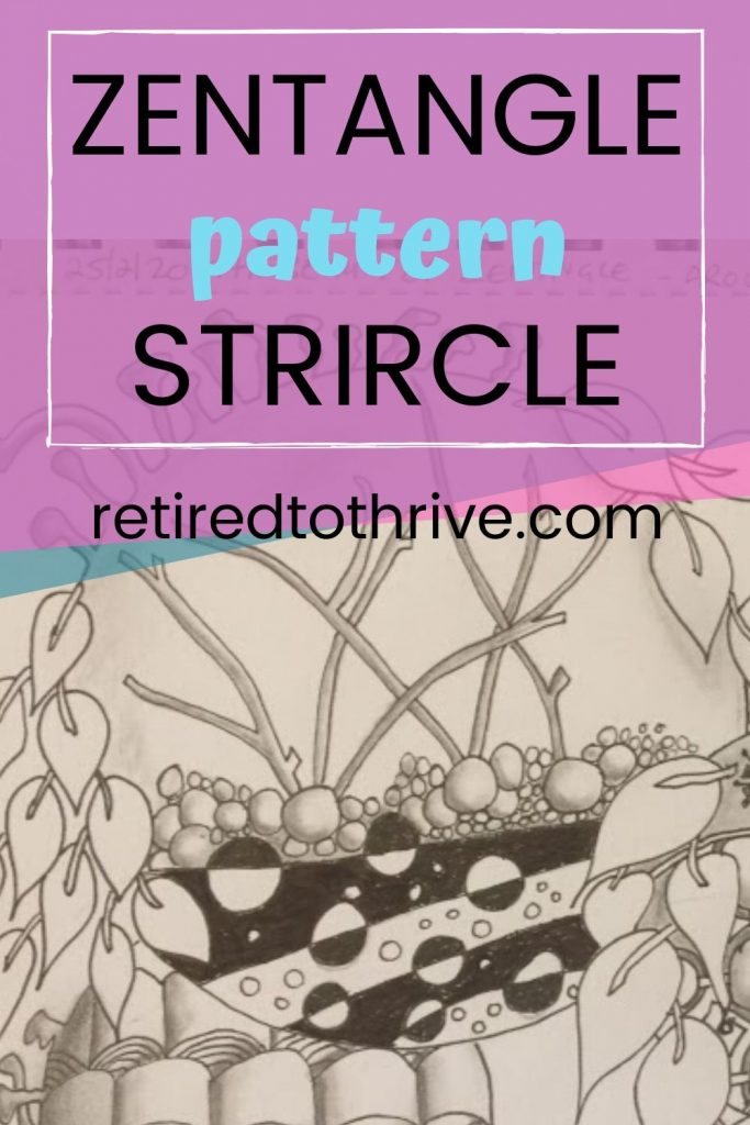 easy tangle pattern for beginners strircle