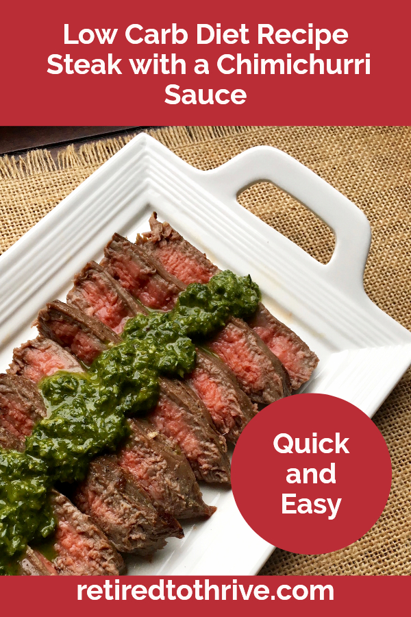 low carb steak and chimichurri sauce recipe