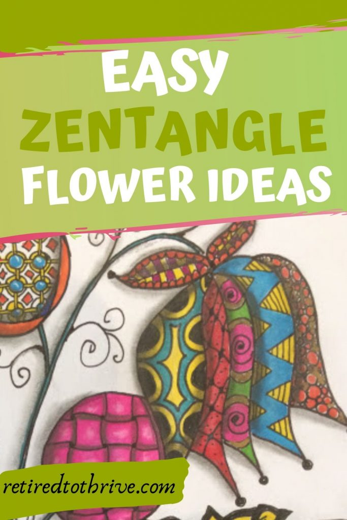 easy zentangle flower ideas for beginners